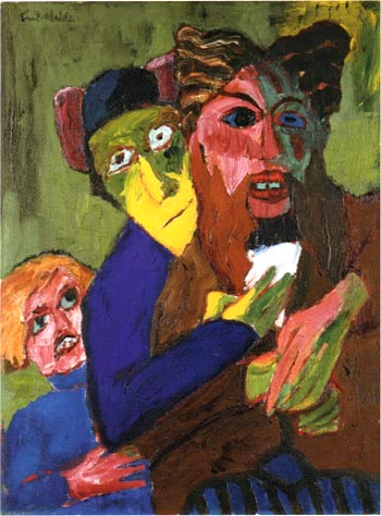 Emil Nolde Excited People 1913