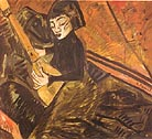 Erich Heckel Girl Playing Lute 1913