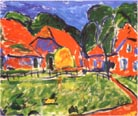Erich Heckel Red Houses 1908
