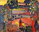 Wassily Kandinsky Lancer in Landscape 1908