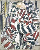 Fernand Leger Woman in Red and Green 1914