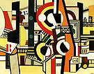 Fernand Leger Disks in the City c1920