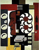 Fernand Leger Composition with Hats 1927