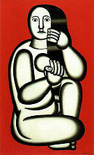 Fernand Leger Nude on a Red Background 1927