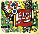 Fernand Leger Tree Trunk on Yellow Ground 1945