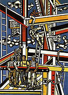 Fernand Leger Construction Workers Final State 1950