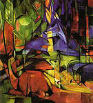 Franz Marc Deer in the Forest