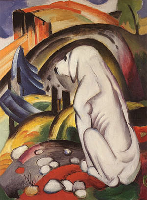 Franz Marc The Dog Before the World 1912