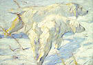 Franz Marc Siberian Dogs in the Snow 1909