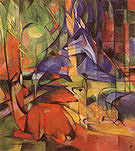 Franz Marc Deer in the Forest II c1913