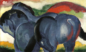 Franz Marc The Small Blue Horses 1911