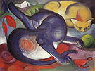 Franz Marc Two Cats Blue and Yellow 1912