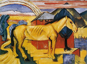 Franz Marc The Long Yellow Horse 1913