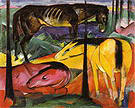 Franz Marc Three Horses I 1913