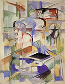 Franz Marc Composition with Animals 1913