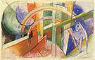 Franz Marc Blue Horse with a Rainbow 1913