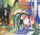 Franz Marc Three Horses at a Watering Place 1913