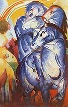 Franz Marc Tower of Blue Horses 1913