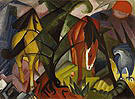 Franz Marc Horses and a Eagle 1912