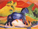 Franz Marc Little Blue Horse Picture for a Child 1912