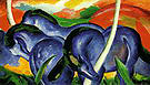 Franz Marc The Large Blue Horses 1911