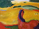 Franz Marc Horse in the Landscape 1910