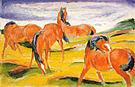 Franz Marc Grazing Horses III 1910