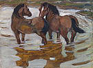 Franz Marc Two Horses at a Watering Place 1910