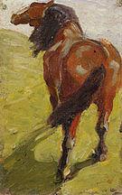 Franz Marc Study of a Horse c1908
