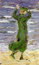 Franz Marc Woman in the Wind by the Sea 1907