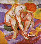 Franz Marc Nude with Cat 1910