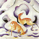 Franz Marc Deer in the Snow 1910