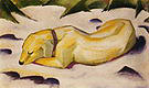 Franz Marc Dog Lying in the Snow 1910