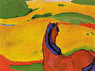 Franz Marc Horse in a Landscape 1910