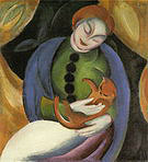 Franz Marc Girl with Cat II 1912