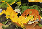 Franz Marc Cows Yellow-Red-Green 1912