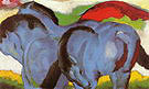 Franz Marc The Little Blue Horses 1911