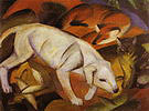 Franz Marc Three Animals, Dog, Fox and Cat 1912