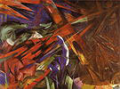 Franz Marc Animal Destinies, The Trees Show their Rings the Animals their Veins 1913