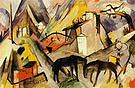 Franz Marc The Poor Land of Tyrol 1913