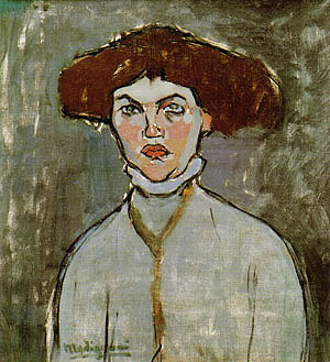 Amedeo Modigliani Head of a Young Woman 1908