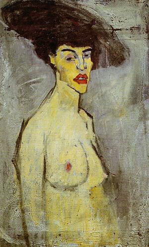 Amedeo Modigliani Female Nude with Hat 1907
