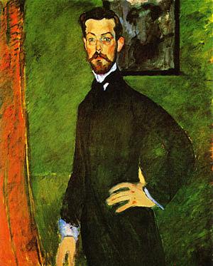 Amedeo Modigliani Portrait of Paul Alexandre against a Green Background 1909