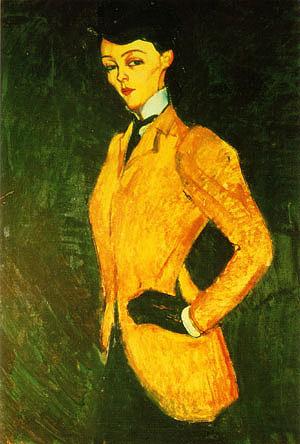 Amedeo Modigliani Woman in Yellow Jacket The Amazon 1909