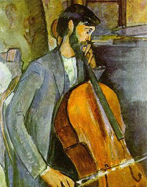 Amedeo Modigliani Study for the Cellist Recto 1909