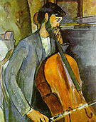Amedeo Modigliani Study for the Cellist Recto 1909
