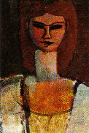 Amedeo Modigliani Woman's Head 1910