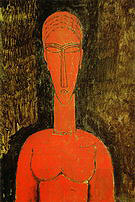 Amedeo Modigliani The Red Bust 1913