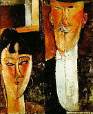Amedeo Modigliani Bride and Groom 1915