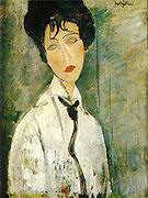 Amedeo Modigliani Portrait of a Woman with Black Cravat 1917